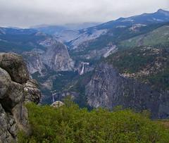 Toward the Valley (dianejp) Tags: california trees mountains nature beauty rain fog yosemitenationalpark