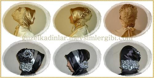 özel günler için çok güzel türban başörtüsü eşap bağlama modelleri stilleri teknikleri tasarımları