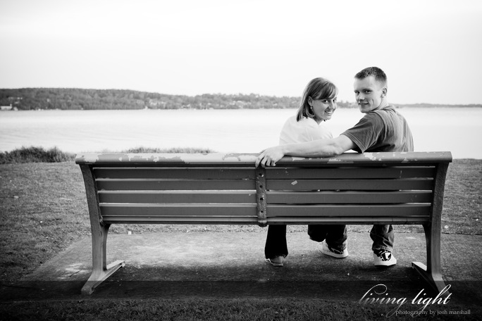 Couple portrait at Warner's Bay, Lake Macquarie.