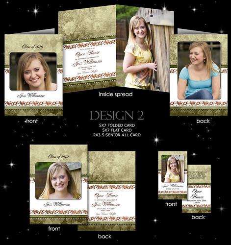 Senior Graduation Cards Plus Matching 411 Rep Cards  Volume #2