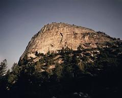 Sunrise on Liberty Cap (hall.chris25) Tags: california mountain sunrise mediumformat yosemite granite mamiya7ii halfdomeclimb