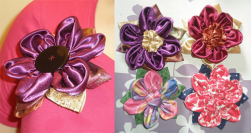 British Cowgirl's Flower Brooches