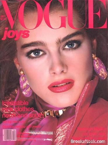 Vogue, December 1980, cover [Brooke Shields]