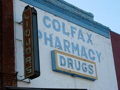 Colfax Pharmacy, Colfax, CA (Robby Virus) Tags: california building sign store neon pharmacy drug liquors colfax