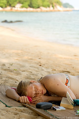 Nap (papaija2008) Tags: travel sleeping woman cute beach digital canon island eos rebel asia nap sleep south east malaysia wife tamron perhentian pulau kecil petani 2875mm xti 400d platinumheartaward earthasia mygearandme