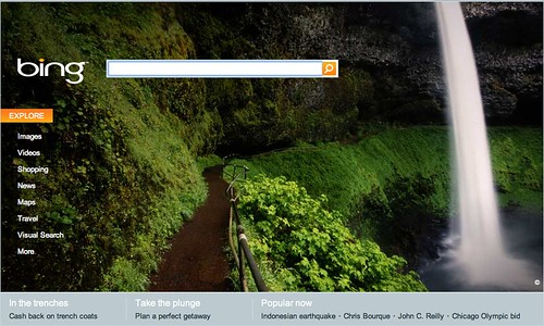 Bing's Visual Search on Home Page