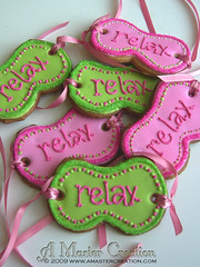 """Relax"" Eye masks Favors (AMasterCreation) Tags: pink green cookie eyemask spatheme amastercreation"