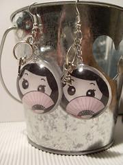 orecchini geisha modello coppetta grande (Mamy-Mamiya) Tags: geisha resina orecchini