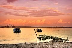 Think (glenndulay) Tags: beach sunrise canon boats bahrain mess glenn think wesley postprocess hdr 2470 dulay minasalman bracketting 40d middleeastshuttersquad glennwesleydulay