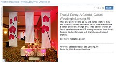 Real Weddings Feature screenshot of DIY orchid panels, click to enlarge