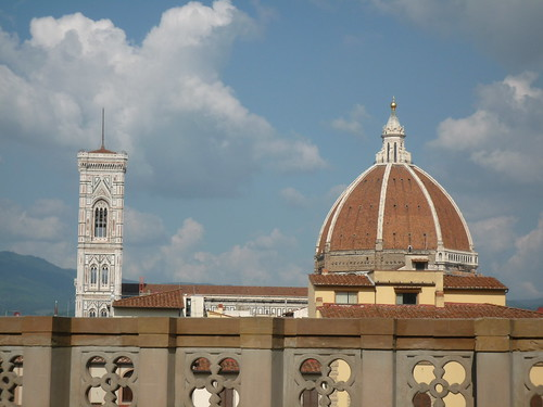 View from Uffizi Museum Terrace Cafe
