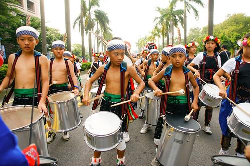 原住民小朋友的鼓隊