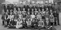 late 1940s St. Georges (theirhistory) Tags: uk school boy england girl kids uniform child dress boots unitedkingdom britain sandals tie class teacher mat junior gb jumper shorts form blazer primary