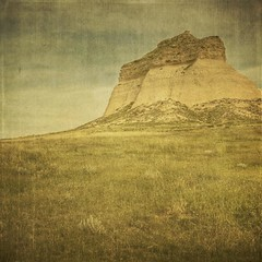 The Last Stand (jssteak) Tags: texture square colorado afternoon cliffs squareformat grasses aged grasslands messa fauxvintage pawneenationalgrasslands pawneebuttes northeastcolorado texturesquared