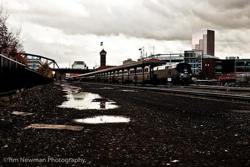 Stormy friday train station