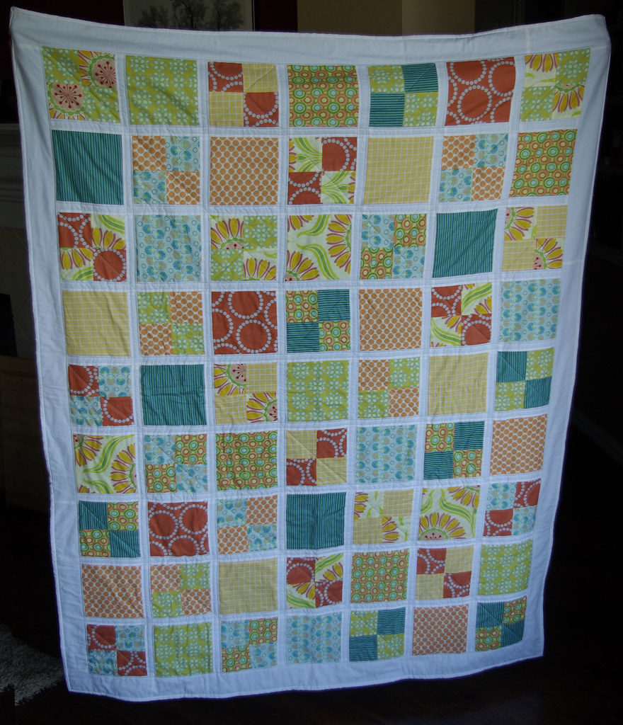 Rainbow Sherbet Throw Quilt