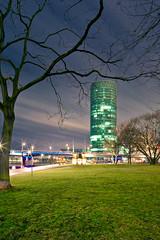 Frankfurt, Westhafen-Tower (HDR) (Bigeminus) Tags: deutschland europa hessen main architektur hdr westhafen westhafentower langzeitbelichtung photomatix