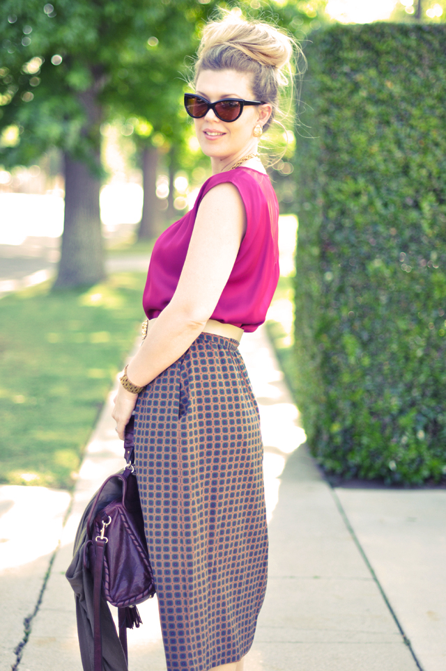 tom ford anouk sunglasses + big bun + vintage clothes and jewelry