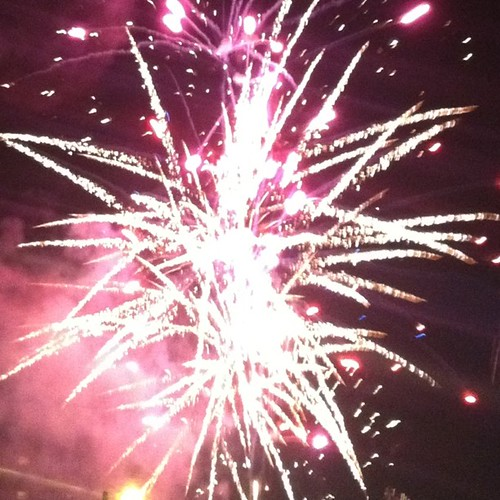 A night with just the 2 middle kids...pizza & fireworks!