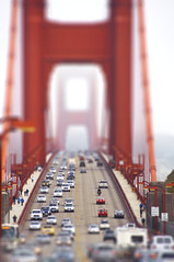 Toy Bridges (pixelmama) Tags: california fog traffic goldengatebridge sanfranciscobay gettyimages sanfranciscocalifornia tiltshift hss clichesaturday fakephotoeffects northmarinsidevistapoint