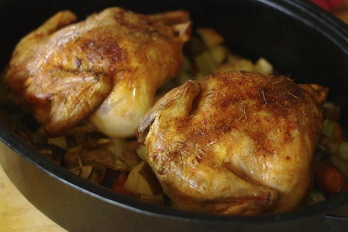 Orange Rosemary Roast Chicken