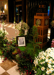 NYC 2011 073 (catchesthelight) Tags: nyc flowers london hotel centralpark manhattan interior decoration bigben historic lobby angelinajolie week celebrities artdeco renovation deco judelaw 59thst photoshop40 jumeirahessexhouse nationaltrusthistorichotelsofamerica essexhouseneonsign
