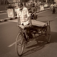 (GordonCV) Tags: bike workbike monochrome sepia jaipur india