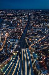 Convergence (Al wants a bagel) Tags: ricoh gr the shard london bridge station night dusk portrait vertical blue