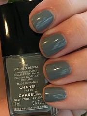 Chanel Washed Denim (purple yellow) Tags: chanel washed denim 566 nail polish