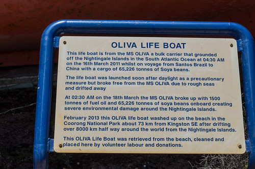 MS Olivia Lifeboat Sign