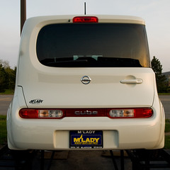 2009 Nissan Cube (contemplative imaging) Tags: auto camera car digital lens automobile nissan angle zoom transport wide olympus transportation cube dslr zuiko 2009 43 evolt 918 e510 zd fourthirds esystem 918mm olympused918mmf456zoom cl090510ev49