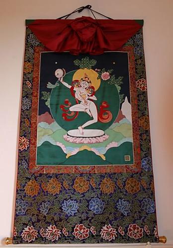 Machig Labdron, 24x30 (61x77 cm) , 33x57 (85x145 cm) with brocade, © 2005 Leslie Rinchen-Wongmo