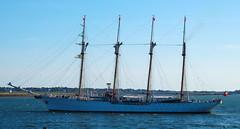 Esmeralda (jelpics) Tags: ocean chile boston sailboat harbor boat sailing ship navy sails mast tallship naval bostonma rigging barquentine esmeralda bostonharbor ladamablanca chileannavy