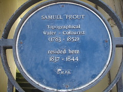 Photo of Samuel Prout blue plaque