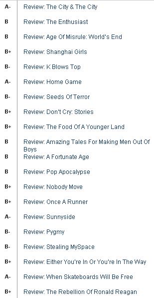 av club book reviews