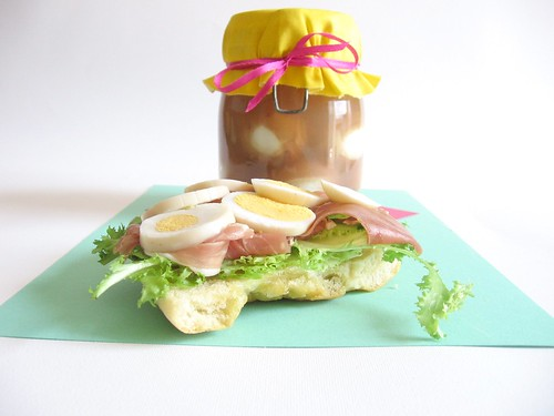 Pickled Egg Sandwich