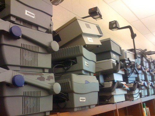Overhead Projectors at US Grant High School in Oklahoma City