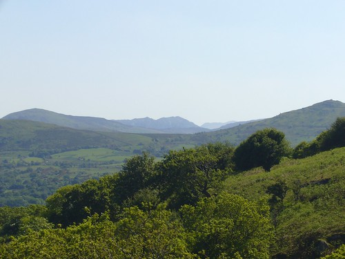 View towards Carnedd mountains