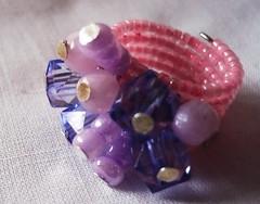 Anillo rosado y lila (Bazar BiendeOjo) Tags: anillos