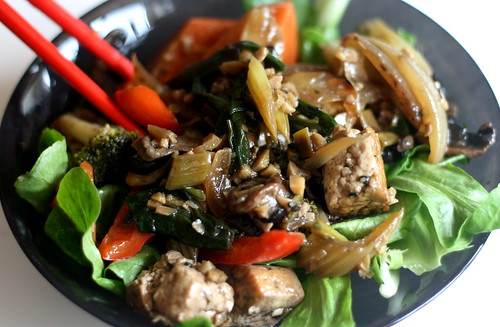 Leftover Stir Fry Salad