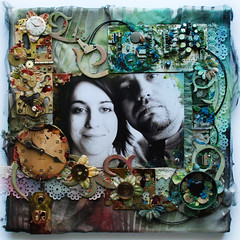Bez pocztku, bez koca... (finnabair) Tags: flowers blue brown man male green love clock collage metal altered computer dark scrapbooking layout punk industrial handmade masculine mixedmedia grunge canvas imagination swirl swirls prima clocks cyberpunk burton inks steampunk holtz alcoholinks grungeboard