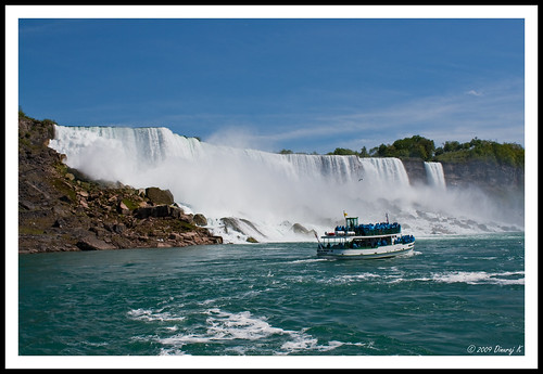 The American Falls and Maid of the Mist