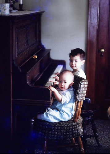 me @ the piano w/my bro