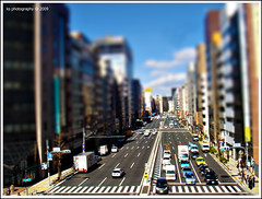 The Urban Triangulation (avenue207) Tags: road city urban building car miniature blurry traffic shift tilt