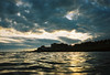 sunset swim (lomokev) Tags: sunset sea sky cloud reflection silhouette nikon brighton agfa ultra agfaultra nikonos deletetag nikonosv nikonos5 nikonosfive file:name=090616nikonosvultra29 roll:name=090616nikonosvultra