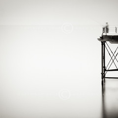 Pause (dougchinnery.com) Tags: longexposure sea summer copyright fish art wall sepia modern print square coast pier seaside fishing fisherman day contemporary jetty fineart wrap minimal line canvas crop rod toned minimalist bait saltburn angler angling minmalism seafishing thefatcat44 dougchinnery