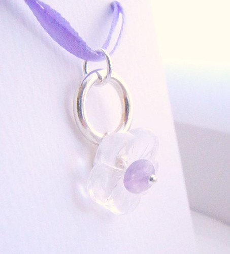 d5a/32 - simple glass and amethyst on sterling