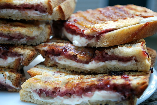 Raspberry, Mozzarella and Brown Sugar Panini
