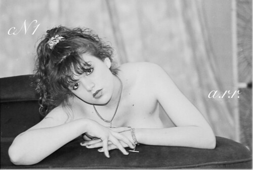 Red Head Glamour Model : Doncaster : 08 / 02 / 92 : Agfa APX 100 B&W Film :