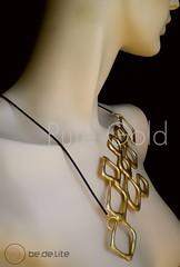 Pure Gold Collection (Be.De.Lite) Tags: gold design necklace recycled contemporary unique jewelry dourado accessories organic colar contemporneo acessrios reciclado exclusivo joalharia orgnico bedelite